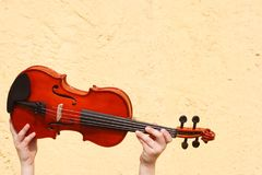Violin at auction royalty free stock photography