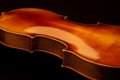 Violin back detail Stock Photo
