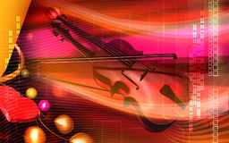 Violin background Stock Image
