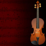 Violin background. Vector background with a violin and musical notes Stock Photos