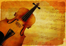 Violin background design. Old and grunge mood for violin background design Royalty Free Stock Images