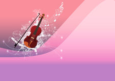 Violin backgrund Stock Photography