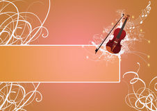 Violin backgrund Royalty Free Stock Image