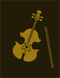 Violin on balck. Royalty Free Stock Photo