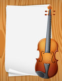 Violin banner Royalty Free Stock Photos