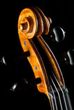 Violin on black Stock Images