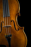 Violin on black Royalty Free Stock Photography