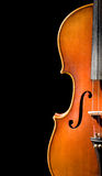 Violin on black background Royalty Free Stock Image