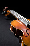 Violin on black background Stock Photography
