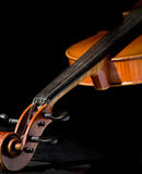Violin on black background Stock Images