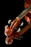 Violin on black background Royalty Free Stock Photos
