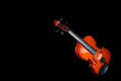 Violin on black background Stock Photos