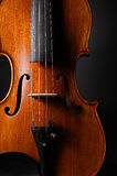 Violin with black background. Classical violin with black background Stock Photos
