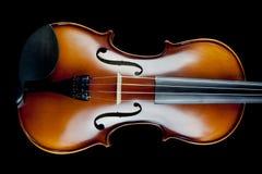 Violin on Black Background Stock Images