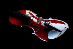 Violin. On black background with low key lightning royalty free stock image