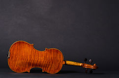 Violin on black background Royalty Free Stock Photography