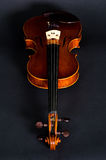 Violin on black background Royalty Free Stock Images