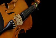 Violin on black Stock Photography