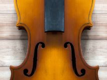 Violin body and neck : background Stock Images