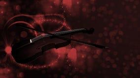 Violin on bokeh background Royalty Free Stock Photo