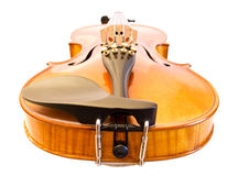 Violin from bottom view Stock Photos