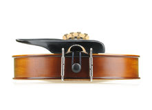 Violin bottom view Stock Photography