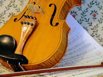 Violin and bow Royalty Free Stock Image