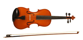 Violin & bow Royalty Free Stock Image
