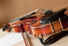 Violin and bow Royalty Free Stock Photography