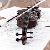 Violin with bow Stock Image