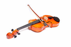 Violin and bow Royalty Free Stock Images