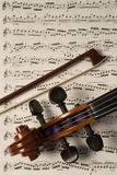 Violin and bow Stock Image