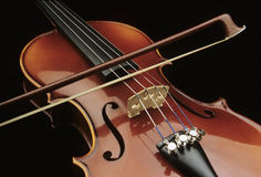 Violin with bow Stock Photos
