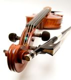Violin and Bow Royalty Free Stock Photo