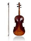 Violin and bow back view Stock Image