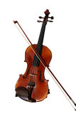 Violin and Bow - clipping path Royalty Free Stock Images
