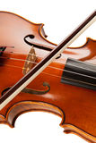 Violin with bow Stock Images