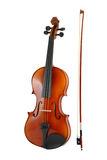 Violin and bow isolated Royalty Free Stock Images