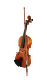Violin and bow isolated Royalty Free Stock Photo