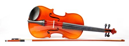 Violin and Bow (series) Royalty Free Stock Photo