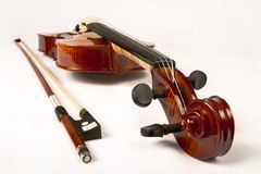 Violin and Bow (series) Stock Image