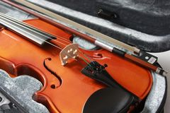 Violin in the box Stock Photo