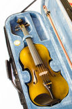 Violin in the box. royalty free stock images