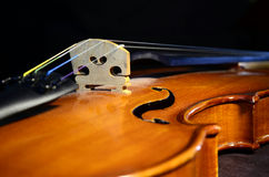 Violin bridge-angle Royalty Free Stock Photography