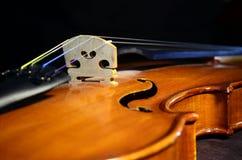 Violin bridge-angle Royalty Free Stock Photography
