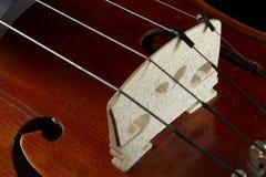 Violin bridge close-up Royalty Free Stock Photo