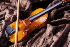 Violin on brown mink Stock Image