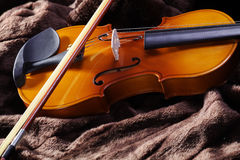 Violin on brown mink Royalty Free Stock Photos