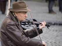 Violin busker Royalty Free Stock Photo