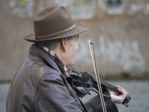 Violin busker Royalty Free Stock Photos